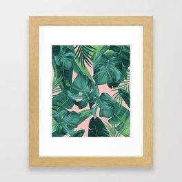 Tropical Summer Jungle Leaves Dream #1 #tropical #decor #art #society6 Framed Art Print
