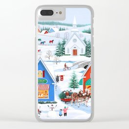 Wintertime in Sugarcreek Clear iPhone Case