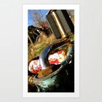 yowamushi pedal Art Prints featuring Rustic Pedal by Chewienine