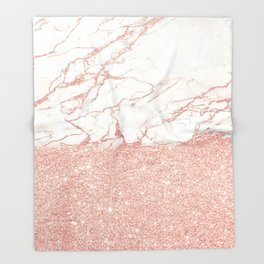 Marble and glitter Throw Blanket