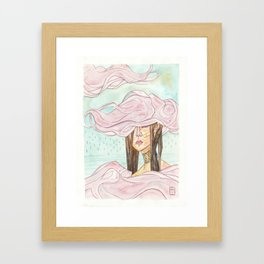 Stacking Clouds Framed Art Print