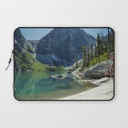 Emerald Green Alpine Lake Laptop Sleeve