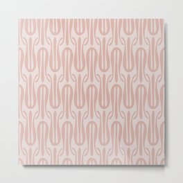 Nouveau Tulips in Blush Metal Print