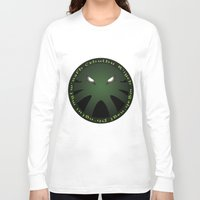 cthulu Long Sleeve T-shirts featuring Cthulu Roundel by Hans Mills