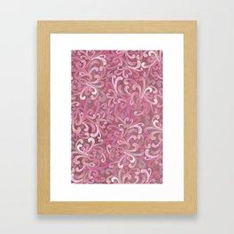 Pink on Pink - Paisley Framed Art Print