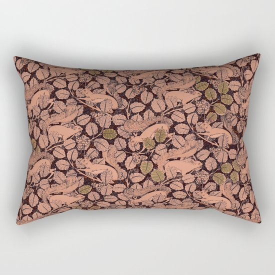 Squirreling Rectangular Pillow