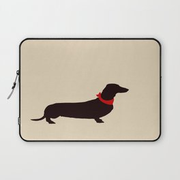 Daschund Dog Silhouette Art Laptop Sleeve