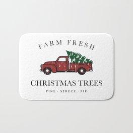 Christmas Tree Farm Vintage Truck Bath Mat
