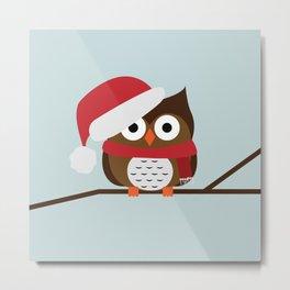 Christmas Owl Metal Print