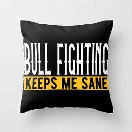 Bullfighting Lover Gift Idea Design Motif Throw Pillow