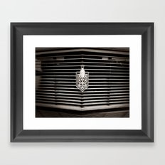 Car Grill Framed Art Print