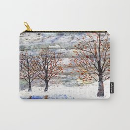 Snow Grey Skies over Moon Lake in Dewdrop Holler Carry-All Pouch