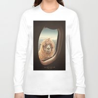 typo Long Sleeve T-shirts featuring QUÈ PASA? by Monika Strigel