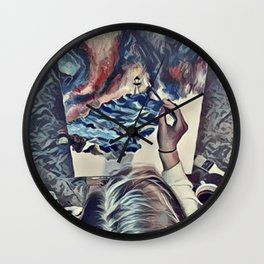 The Universe Inside My Head (Overhead) Wall Clock