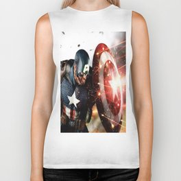 Man Of Captain In America Biker Tank