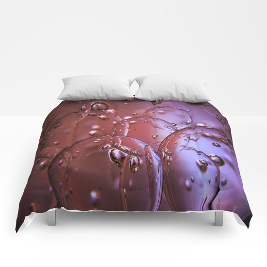Red Glass Bubbles Comforters