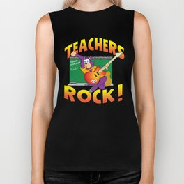 Teachers Rock Merchandise Biker Tank
