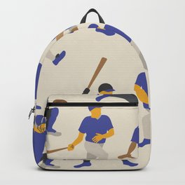 Pattern of Baseball Players in Blue Backpack