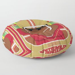 American Football Red and Gold - Enzone Puntfumbler - Hayes version Floor Pillow