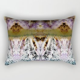 Psychedelic Redwood Trees Rectangular Pillow