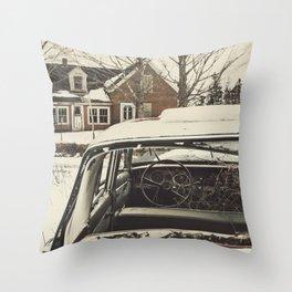 Vintage Family Sedan Throw Pillow