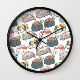 Sushi Cats Wall Clock