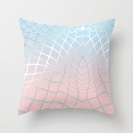 Grid and Gradient 1 Throw Pillow
