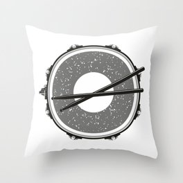 Drum with drumsticks Throw Pillow