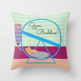 Gym Buddies Throw Pillow