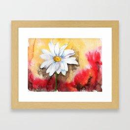 daisy with edge Framed Art Print