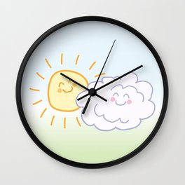 Floof Cloud and Sunny Wall Clock