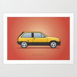 Opel Corsa GT / Vauxhall Nova / Chevrolet Barina / Holden Barina 1982 Art Print