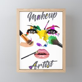 Makeup Artist, Make up Fashion Master Framed Mini Art Print