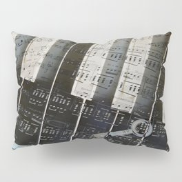 Piano Keys black and white - music notes Pillow Sham