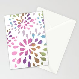 Colourful drops Stationery Cards