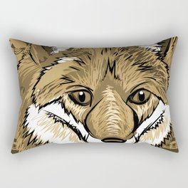 FOX Sketch Mono w/background Rectangular Pillow