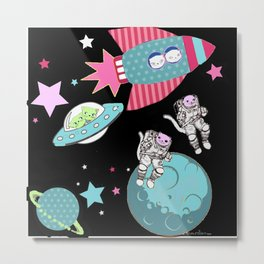 Space Cats , Astronaught cats Metal Print