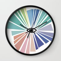all seeing eye Wall Clocks featuring All seeing eye  by Nobra