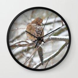 Winter Dove Wall Clock