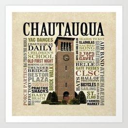 CHQ Words Pillow Art Print