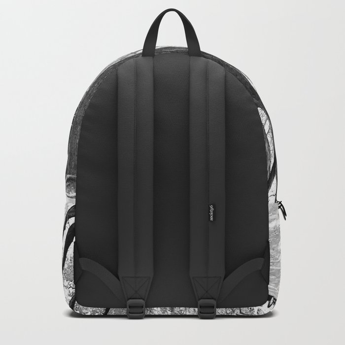 Cobble Hill Brooklyn Winter Black and White Brownstone Backpack
