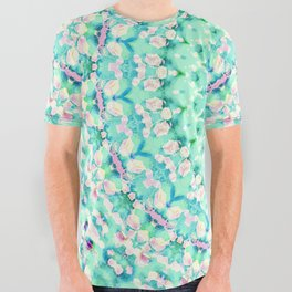 ARABESQUE SPRING MINT All Over Graphic Tee