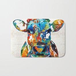 Colorful Cow Art - Mootown - By Sharon Cummings Bath Mat