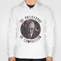 philosophy Hoodies featuring The Philosophy of Composition by Collage Calamity