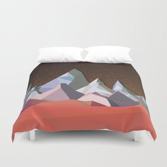 Night Mountains No. 30 Duvet Cover
