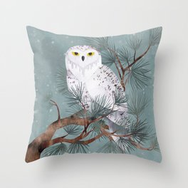 Snowy Throw Pillow