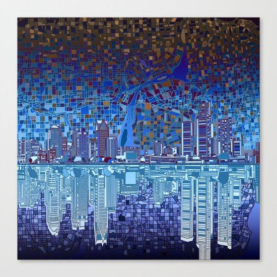 detroit city skyline Canvas Print