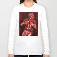 murray Long Sleeve T-shirts featuring Aaron Murray of UGA Bulldogs Football by Wesley S Abney
