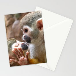 Monkey Love and Attitude  Stationery Cards