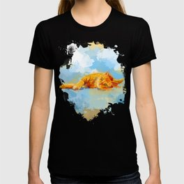Cat Dream - orange tabby cat painting T-shirt